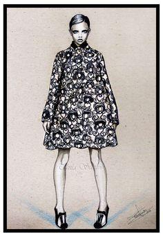 fashion illustration- Graphic pattern by Tania-S.deviantart.com on @DeviantArt