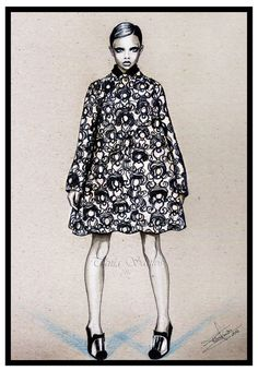 fashion illustration- Graphic pattern by Tania-S on deviantART