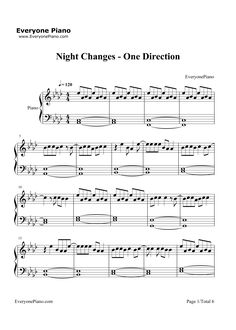 Night Changes-One Direction Stave Preview 1