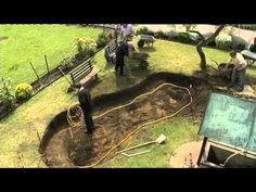Teichaufbau bei re-natur.de - Anleitung zum Bau eines Teiches (Schwimmteiches) - YouTube