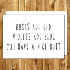 Funny Valentine Card Valentines Day Card by InANutshellStudio