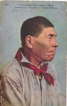 Yaqui Chief from Sonora Mexico