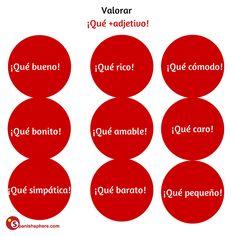 Valorar: ¡Qué+adjetivo! #learn #Spanish