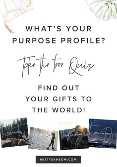 Click through to take this free quiz and find out your purpose profile! Life purpose, personal development, personal growth, purpose, motivation, inspiration