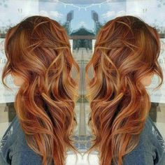 Copper with blonde pieces