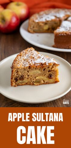 Apple and Sultana Cake - a delicious light healthier cake with fresh apples, sultanas and a hint of spices. Slimming World Cake, Slimming World Desserts, Slimming World Vegetarian Recipes, Healthy Eating Recipes, Slimming Recipes, Diabetic Recipes, Healthy Meals, Beginner Baking Recipes, Cooking Recipes