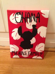 Lilo and Stitch Canvas Painting by SavySurgeon on Etsy