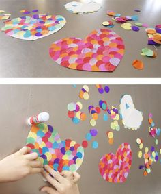 Cute idea - paper confetti hearts.