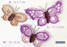 Love to crochet and read books? Why not make yourself pretty crochet bookmarks in cute designs. Here is the crochet butterfly bookmark with free pattern. Picot Crochet, Crochet Motifs, Thread Crochet, Irish Crochet, Crochet Crafts, Easy Crochet, Crochet Projects, Crochet Patterns, Stitch Patterns