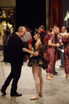 James Kudelka and Jordana Daumec backstage at The #Nutcracker. Photo by Bruce Zinger.