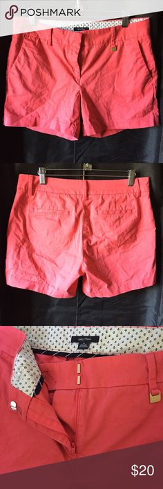 NAUTICA preppy shorts This type of shorts is a timeless classic for preps. Traditionally worn with a button down oxford shirt and boat shoes, but you can switch up and pair it with a long sleeve shirt and shoes of your choice. Used only twice and is in great condition. Nautica Shorts