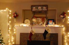 Christmas Fireplace Display