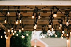 Hanging vintage string lights w on a wooden pergola beams patio in a backyardith edison bulbs – Buy this stock photo and explore similar images at Adobe Stock - Modern Edison Lighting, Edison Bulbs, Vintage String Lights, Do It Yourself Wedding, Vintage Graphic Design, Wooden Pergola, Decorating Your Home, Beams, Light Bulb