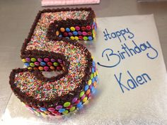 Number 5 Birthday Cake