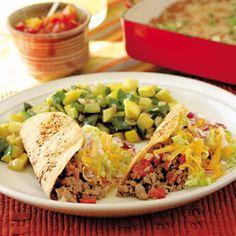 Tacos Hispanos sencillo y fáciles, hechos con tortillas de maíz!