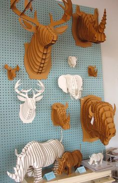 Cardboard Taxidermy http://www.creativeboysclub.com/ I have seen these before…