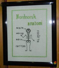 artig bilde, nord-norsk anatomi. Norskkurs