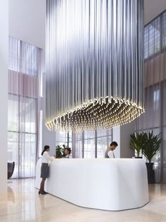 Studio M Hotel reception area in Singapore.