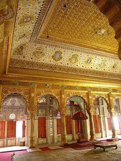 Entertainment Room at the Mehrangarh Fort, Jodhpur, Rajasthan, India