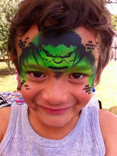 Superhero Face Painting, Face Painting For Boys, Face Painting Stencils, Sarah Robinson, Kids Makeup, Face Paintings, Paint Ideas, Hulk, Painting Inspiration