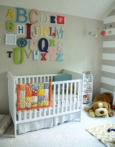Alphabet Wall Art transitional-nursery