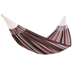 Hamaca, Cayo Dubbel-Hängmatta - Mocca Double Hammock With Stand, Hammock Stand, Hanging Chair With Stand, Park 24, Swinging Chair, Sun Lounger, Cotton, Environment, Relax