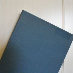 3 ring binder steel blue linen school binder vintage