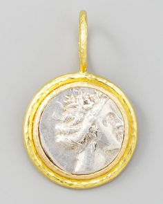 Elizabeth Locke - Ancient Greek Silver & 19k Gold Coin Pendant
