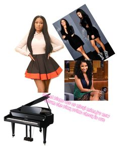 """""""The Pink print: Grand Piano"""" by yoshiplaytime23 on Polyvore featuring beauty and Nicki Minaj"""