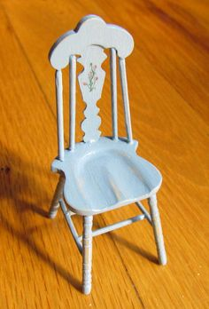 Dollhouse Miniature Furniture Handcrafted  kitchen chair  Depression era12th scale. $37.00, via Etsy.