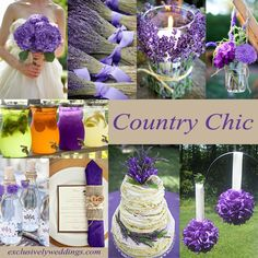 Country Chic/Rustic Wedding - A great way to have a wedding on a budget and still have lots of style. Country Chic is the exact way term I have coined for my wedding! Purple Wedding, Chic Wedding, Wedding Blog, Fall Wedding, Wedding Colors, Our Wedding, Wedding Flowers, Dream Wedding, Wedding Stuff
