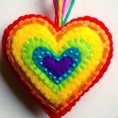 Llavero arco iris