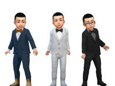 Sims 4 | Toddler Suit Up! #g1g2cc CAS clothing fullbody male formal shoes