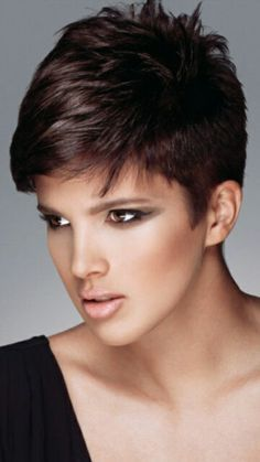 Image result for pixie cut for thick hair