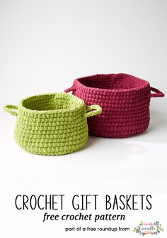 Crochet these bright and versatile baskets from my 10 best crochet basket free pattern roundup!
