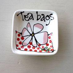 Ceramic Tea Bag Dish by Gallery Thea