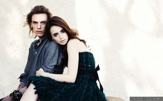 Lily Collins and Jamie Campbell Bower - a photo shoot by John Russo for the UK magazine LIVE