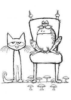 Pete the Cat and His Four Groovy Buttons Coloring page