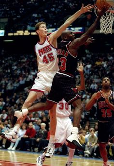 shawn bradley, michael jordan, new jersey nets, chicago bulls