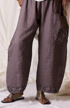 Linen Dawn Pant Printed : Blue Fish Clothing