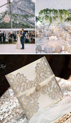 luxury classic ball room wedding invitations #elegant wedding invitations Elegant Wedding, Rustic Wedding, Laser Cut Wedding Invitations, Wedding Details, Rsvp, Luxury, Classic, Cards, Ideas