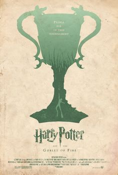 """Adam Rabalais' """"Harry Potter and the Goblet of Fire"""" Minimalist Poster"""