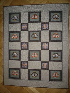 Tigers, baby quilt 101x125cm