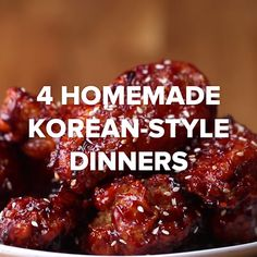4 Homemade Korean Style Dinners