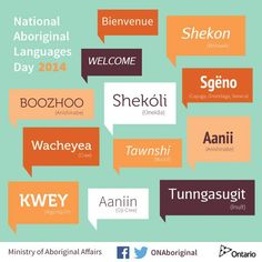 It's National Aboriginal Languages Day! Help spread the word!
