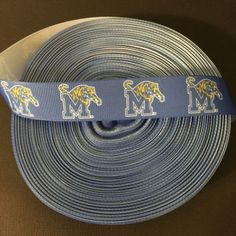 7-8-Memphis-Tigers-Grosgrain-Ribbon-by-the-Yard-USA-SELLER
