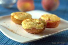Insane in the Kitchen: Überbackene Pfirsichhälften mit Käsekuchencreme Füllung
