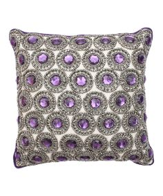 Purple Parachute Winston Rhinestone Pillow | Daily deals for moms, babies and kids