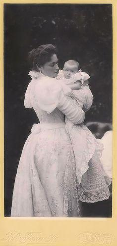 Empress Alexandra Feodorovna photographed with her second daughter Grand Duchess Tatiana Nikolaevna in 1897
