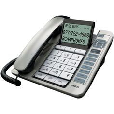 Rca Corded Desktop Phone With Caller Id & Digital Answering System (silver)
